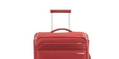 Product, Brown, Red, Maroon, Grey, Baggage, Luggage and bags, Parallel, Metal, Composite material,
