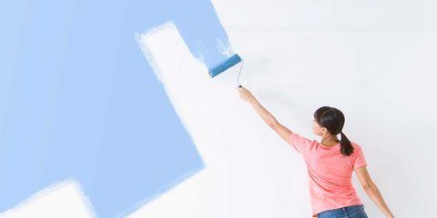 Elbow, Standing, Denim, Jeans, Wall, Paint, Waist, Gesture, Balance, Painter,