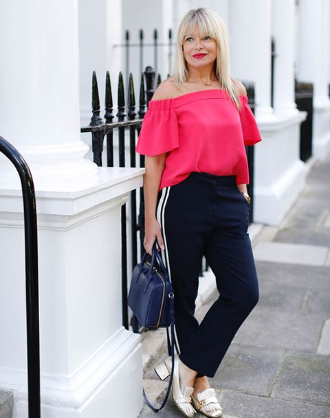 e25871811195d1 How to wear off-the-shoulder tops - What to wear with a Bardot top