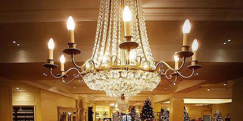 Lighting, Interior design, Light fixture, Ceiling fixture, Ceiling, Room, Chandelier, Interior design, Retail, Lighting accessory,