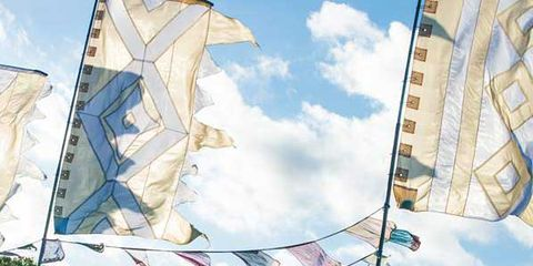 Sky, Pole, Tent, Crowd, Flag, Shade, Canopy, Painting,