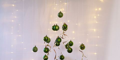 lacking space for a big fluffy christmas tree or looking for a simple but effective way to decorate a bare wall or room for christmas - How To Make A Christmas