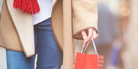 Brown, Denim, Textile, Bag, Outerwear, Red, Carmine, Fashion, Shoulder bag, Jacket,