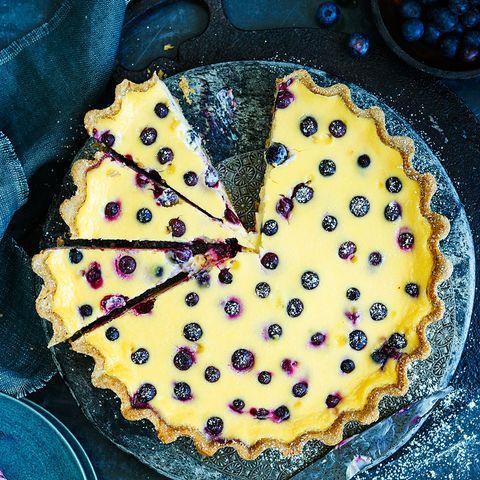 Yellow, Sweetness, Food, Dessert, Pattern, Recipe, Baked goods, Kuchen, Circle, Dish,
