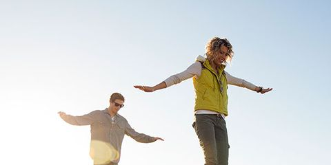 Arm, Standing, Happy, People in nature, Leisure, Rejoicing, Vacation, Gesture, Travel, Fence,