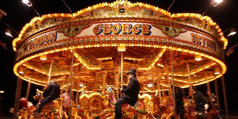 Fun, Amber, Night, Light, Amusement ride, Amusement park, Carousel, Public event, Fair, Electricity,