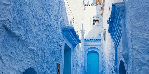 Blue, Stairs, Infrastructure, Wall, Majorelle blue, Alley, Street, Azure, Electric blue, Aqua,