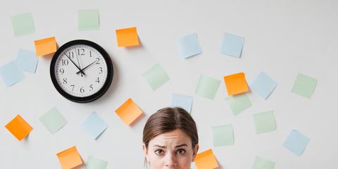 Product, Table, Orange, Sitting, Employment, Job, Wall clock, Desk, Office equipment, Clock,