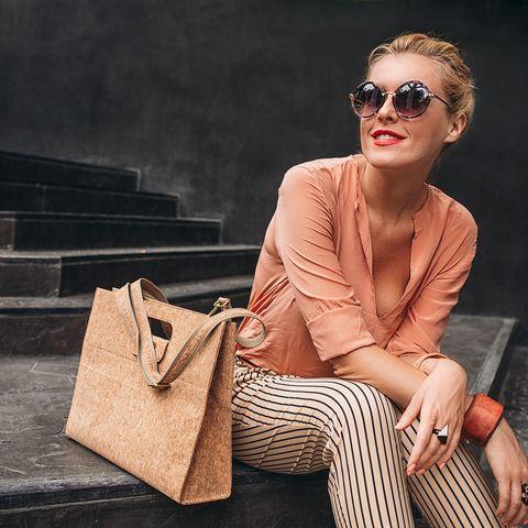 Eyewear, Sunglasses, Clothing, Shoulder, Fashion, Fashion model, Beauty, Brown, Street fashion, Cool,