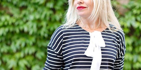 6937d204e0058 How to wear a Breton top with skirt or trousers