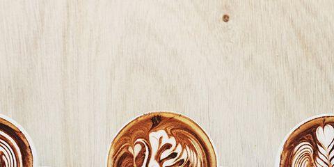 Wood, Cup, Serveware, Drinkware, Brown, Single-origin coffee, Drink, Espresso, Flat white, Tableware,