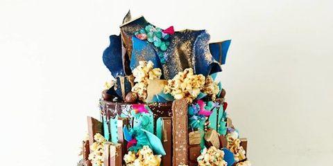 Blue, Teal, Turquoise, Aqua, Sweetness, Dessert, Cake decorating supply, Cake decorating, Cake, Cake stand,