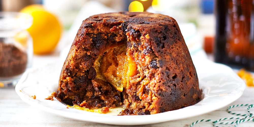 Christmas Pudding Recipe.Hidden Orange Christmas Pudding