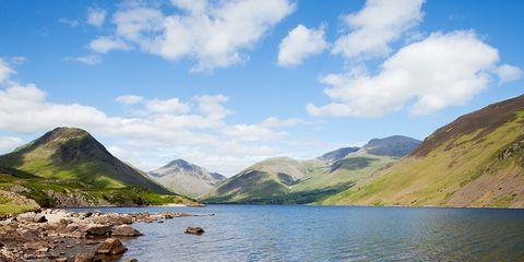 Body of water, Nature, Mountainous landforms, Highland, Mountain range, Natural landscape, Hill, Mountain, Tarn, Bank,