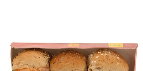 Finger food, Food, Ingredient, Sandwich, Baked goods, Bun, Breakfast, Dish, Recipe, Hamburger,