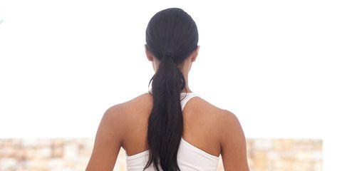 Shoulder, Elbow, Wrist, Exercise, Sitting, Physical fitness, Undershirt, Yoga, Abdomen, Neck,