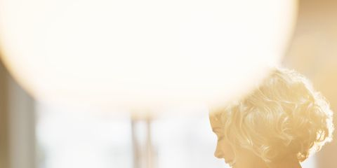 Blond, Reading, Daydream, Office supplies, Backlighting,
