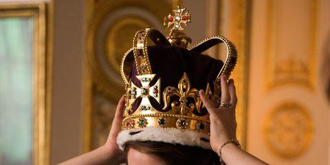 Crown, Headpiece, Hair accessory, Fashion accessory, Headgear, Costume accessory, Fashion, Tradition, Jewellery, Costume hat,