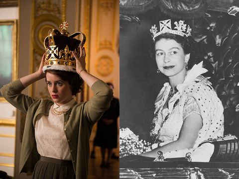 Who plays the main parts in Netflix drama The Crown?
