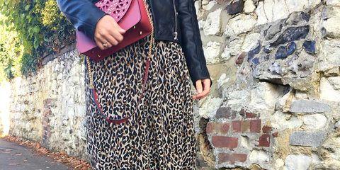 Clothing, Textile, Joint, Human leg, Style, Pattern, Street fashion, Fashion, Black, Bag,