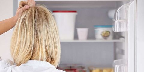 Back, Cook, Blond, Freezer, Long hair, Hair coloring, Brown hair, Chef, Cooking, Kitchen appliance,