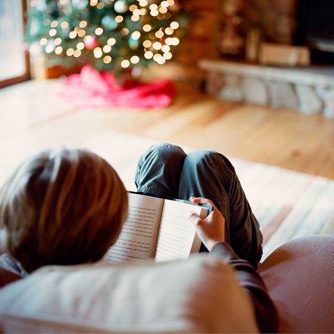 Leyendo en navidad.