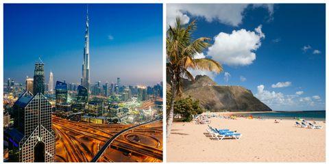 Nature, Vegetation, Tower block, Natural landscape, Landscape, Colorfulness, City, Cityscape, Real estate, Landmark,