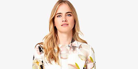 Sleeve, Shoulder, Collar, Pattern, Street fashion, Fashion, Neck, Fashion model, Day dress, Button,