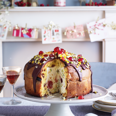 Christmas Dessert Recipes.Panettone Party Bombe