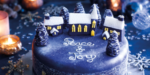 Silent Night Christmas cake
