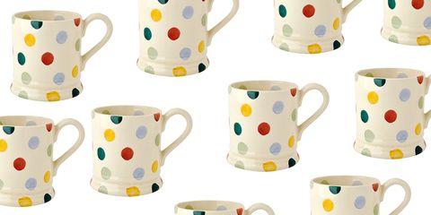 Cup, Serveware, Drinkware, Porcelain, Dishware, Yellow, Tableware, Pattern, Ceramic, Pottery,
