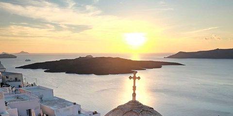 Dome, Sunset, Dusk, Sunrise, Horizon, Dome, Evening, Afterglow, Byzantine architecture, Roof,