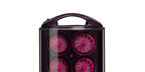 Product, Magenta, Purple, Pink, Violet, Maroon, Visual effect lighting, Baggage, Plastic, Loudspeaker,