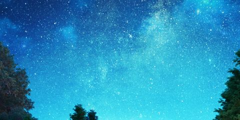 Natural landscape, Landscape, Star, House, Rural area, Space, Reflection, Garden, Astronomical object, Astronomy,
