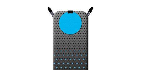 Audio equipment, Blue, Technology, Electronic device, Pattern, Aqua, Azure, Teal, Grey, Turquoise,