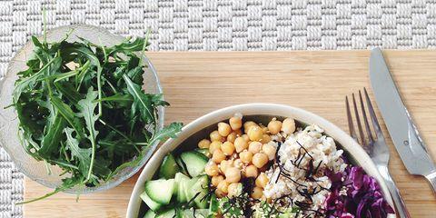 Food, Ingredient, Tableware, Dishware, Produce, Leaf vegetable, Kitchen utensil, Recipe, Herb, Cutlery,