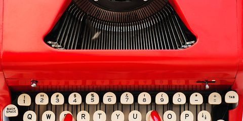 Finger, Red, Office equipment, Nail, Office supplies, Font, Typewriter, Carmine, Machine, Circle,
