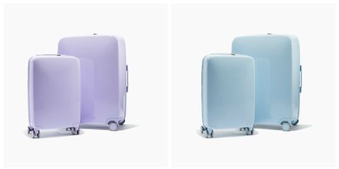 Product, Brown, Green, Grey, Plastic, Rectangle, Baggage, Design, Rolling, Silver,