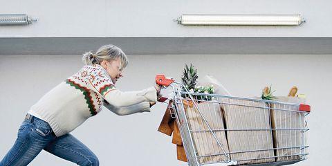 Cart, Shopping cart, Denim, Street fashion, Rolling, Storage basket, Baby Products,