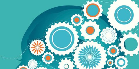 Pattern, Teal, Turquoise, Aqua, Colorfulness, Orange, Art, Circle, Visual arts, Illustration,