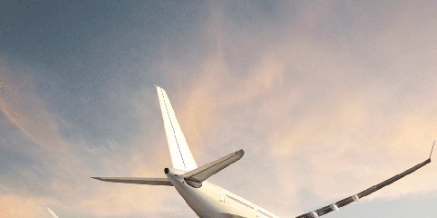 Airplane, Sky, Aircraft, Daytime, Airliner, Cloud, Air travel, Flight, Atmosphere, Airline,