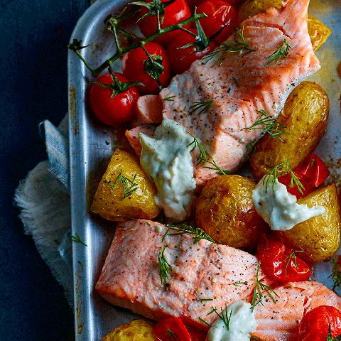 best traybake recipes salmon tray bake