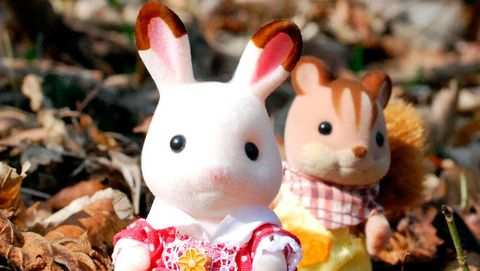 Brown, Pink, Rabbits and Hares, Adaptation, Pattern, Fawn, Rabbit, Spring, Toy, Peach,