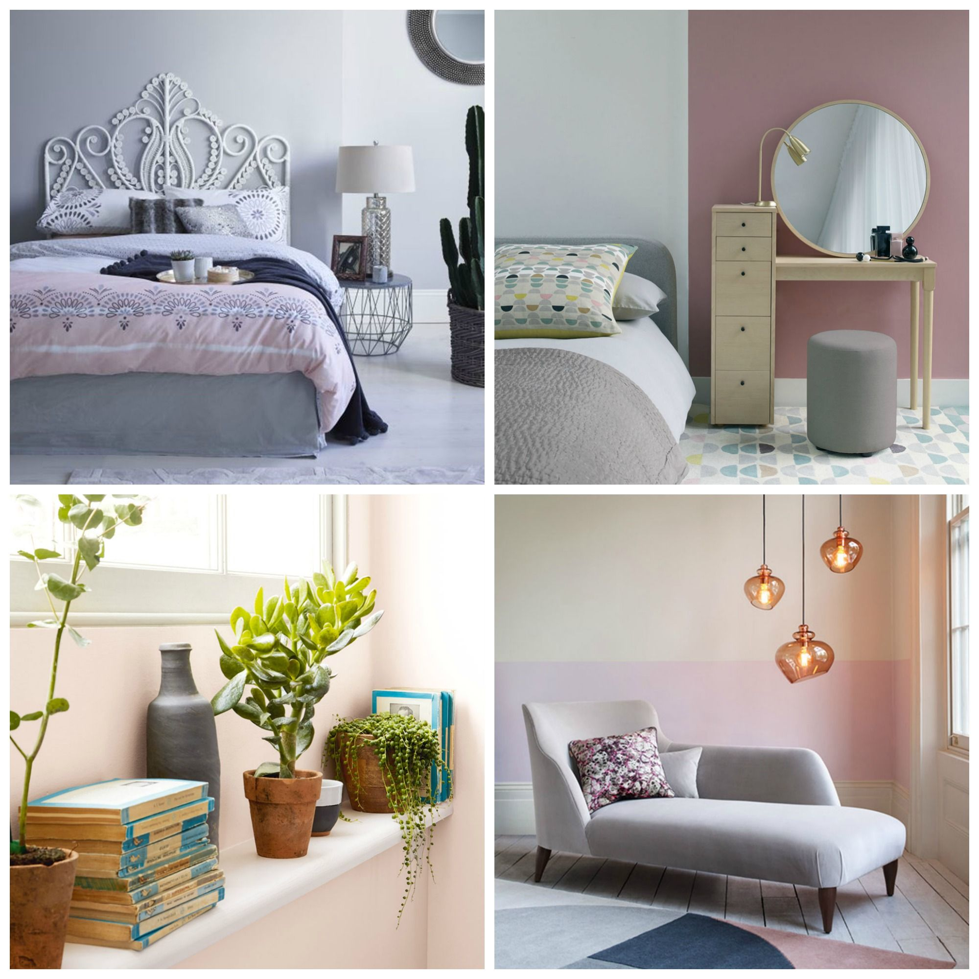 12 pink and grey bedroom ideas - pink and grey bedroom ...