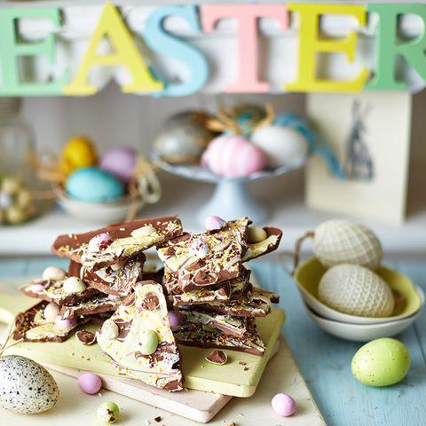 Easy Chocolate Easter Bark
