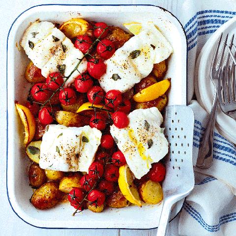 best fish recipes easy cod tray bake