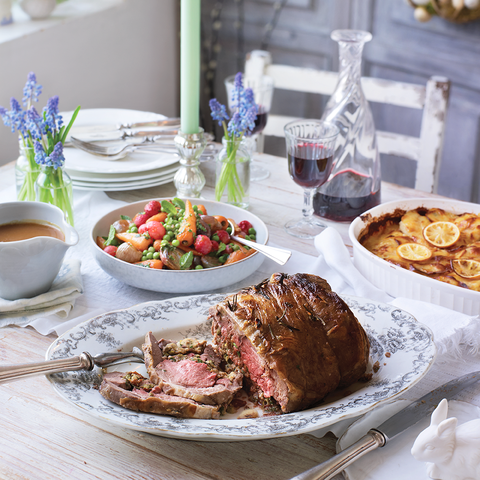 best lamb recipes rolled leg of lamb with anchovy, parsley and lemon