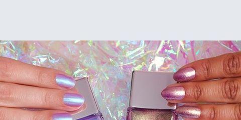 Nail polish, Nail, Nail care, Pink, Cosmetics, Violet, Manicure, Finger, Lilac, Purple,