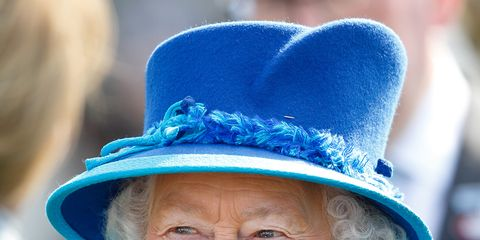 Nose, Blue, Lip, Hat, Chin, Happy, Electric blue, Facial expression, Jaw, Headgear,
