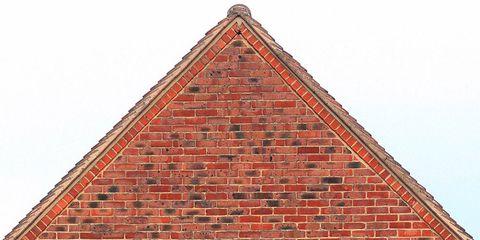 Brick, Line, Brickwork, Font, Roof, Signage,